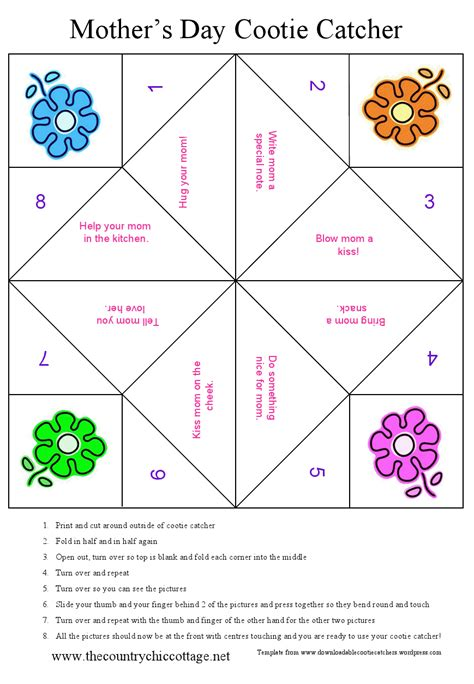 How To Make A Cootie Catcher Out Of Paper - s day cootie catcher free printable the country