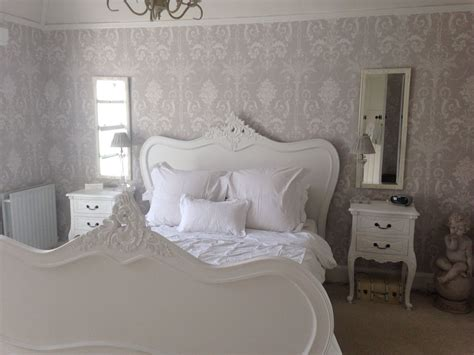 grey and white bedroom wallpaper calm grey and white bedroom with laura ashley josette wall