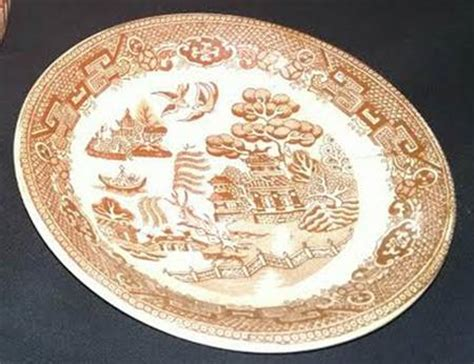 brown willow pattern edge malkin brown willow at replacements ltd