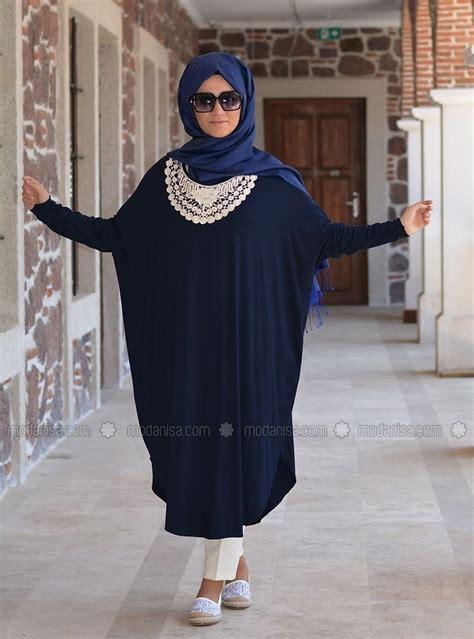 Dress Elisa Syari aryenne tunique bleu fonc 233 henna elisa