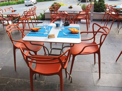 masters chairs by philippe starck at l escale restaurant