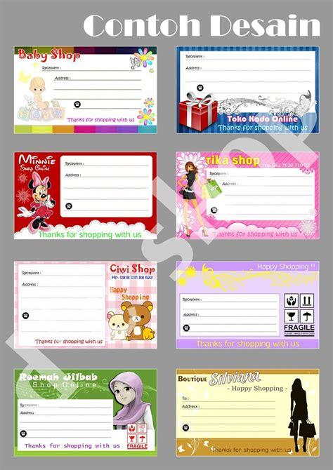 jual sticker shipping label pengiriman olshop  lapak