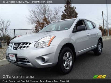 silver nissan rogue 2012 brilliant silver 2012 nissan rogue s awd black