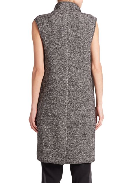 knit vest lyst vince melange knit vest in black