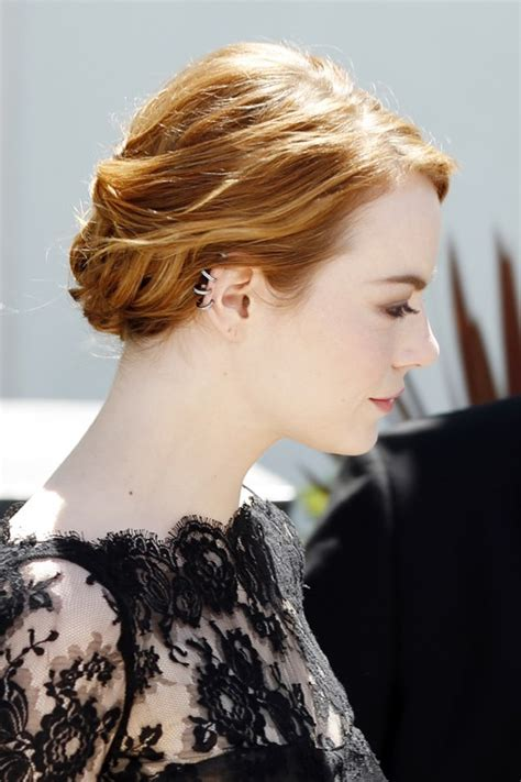 emma stone hairstyle 2015 celebrity hairstyles 2015 emma stone wavy ginger updo hairstyle steal her style