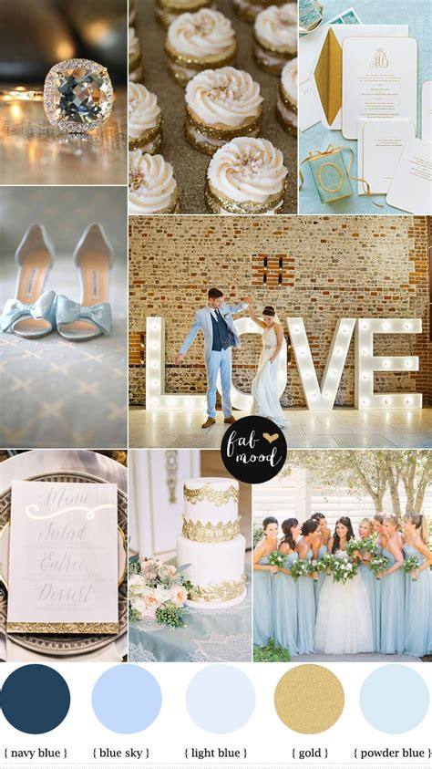 color theme ideas blue and gold wedding theme light blue gold color
