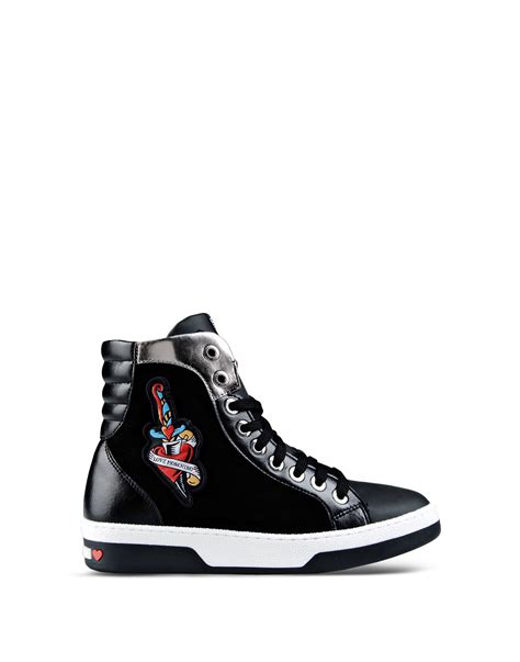 High By Moschino by Lyst Moschino High Top Sneaker In Black