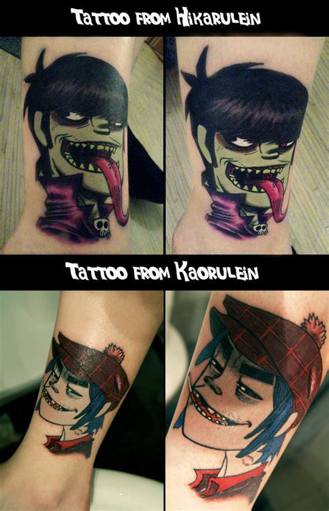 gorillaz tattoo designs 2d vs murdoc images 2d murdoc tattoos hd wallpaper and