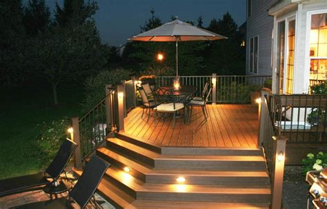 led deck lighting ideas lively functional and decorative outdoor deck lighting