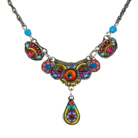 multi color mosaic necklace 8329 firefly jewelry