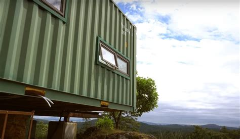 a canadian man built this off grid shipping container home he built a fully off grid shipping container home on a