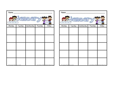 monthly behavior calendar template blank january calendar behavior chart what use you