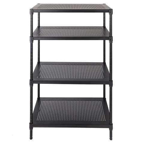 adjustable 4 tier heavy duty wire shelving rack unit steel