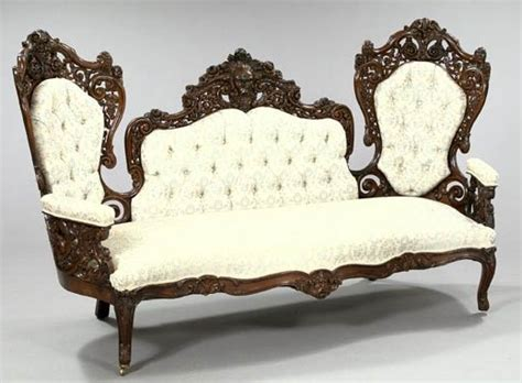 rococo revival sofa furniture sofa victorian rococo revival baudouine