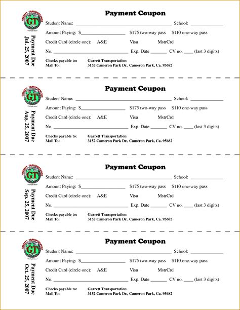 coupon book template doc 12831658 payment coupon book template bizdoska