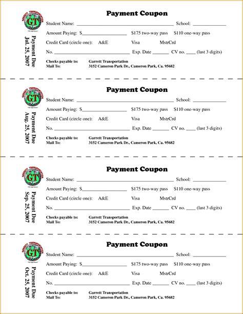 doc 12831658 payment coupon book template bizdoska