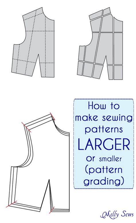 pattern maker grading how to make a sewing pattern bigger or smaller pattern