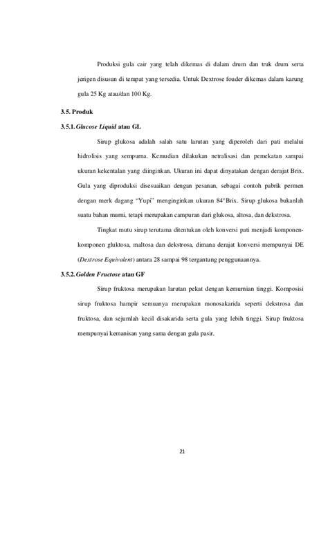 Gula Dextrose Quot Pembuatan Pabrik Gula Dextrose Di Lung