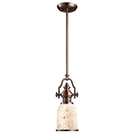 Home Depot Pendant Light Titan Lighting Chadwick 1 Light Antique Copper Ceiling Mount Pendant Tn 10048 The Home Depot