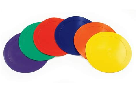 rubber st circle poly vinyl spot markers set of 6