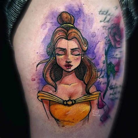 belle tattoo watercolor best ideas gallery