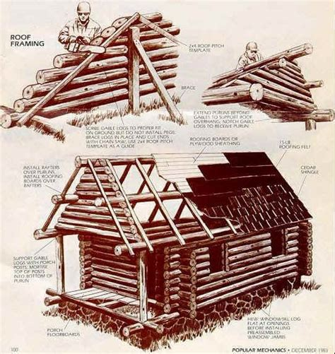 diy log cabin plans build a small log cabin