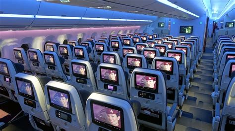 a350 cabin completely empty coach cabin on qatar s a350 flight from