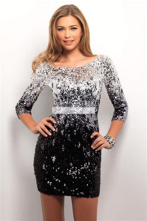 Black Sequin Dress W8165usi D black and silver sequin prom dress www imgkid the