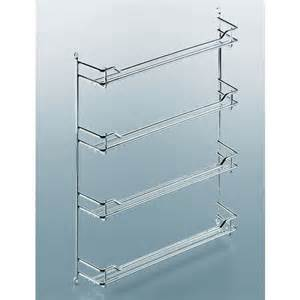 Kitchen Bakers Rack Cabinets by Steel Wire Door Mount Spice Racks In Chrome And Champagne