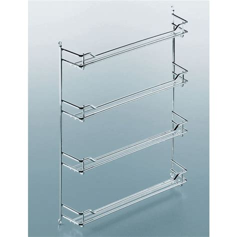 kitchen cabinet door racks steel wire door mount spice racks in chrome and chagne