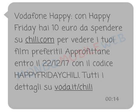 cineplex sms vodafone happy friday regala 10 euro per vedere i propri