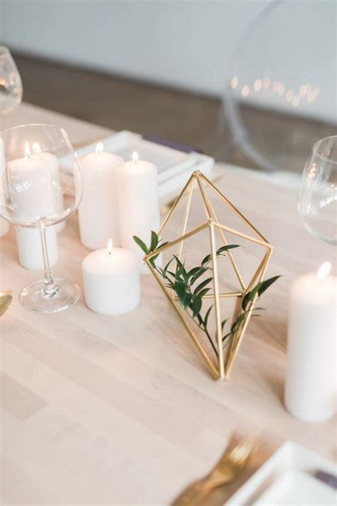 chic geometric wedding ideas   trends page      day