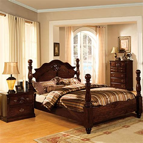 colonial bedroom furniture tuscan colonial style dark pine finish 6 piece queen size