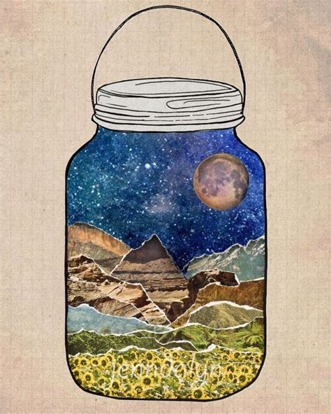 nature themes jar how to make a collage some simple tips bored art