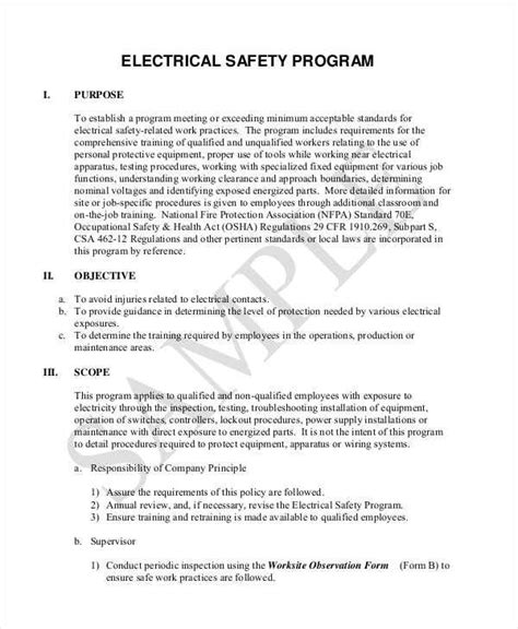 electrical safety policy template electrical safety policy template 28 images tool box