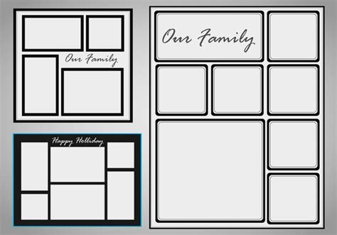 templates for photo photo collage template vector set free vector
