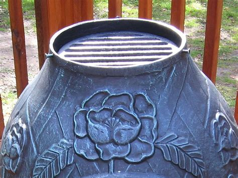 chiminea grate rose style chiminea alch012
