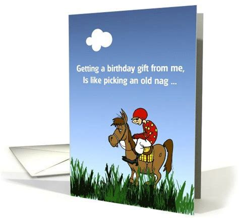 Dont Bet On It birthday racing humor nag don t bet on it