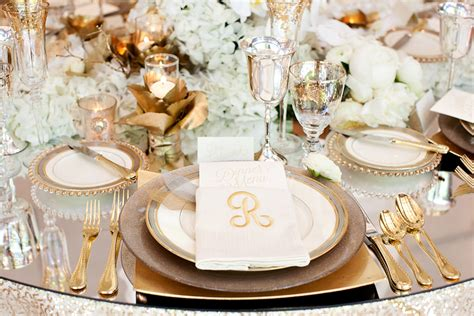 white and gold table settings gold reception table place setting elizabeth