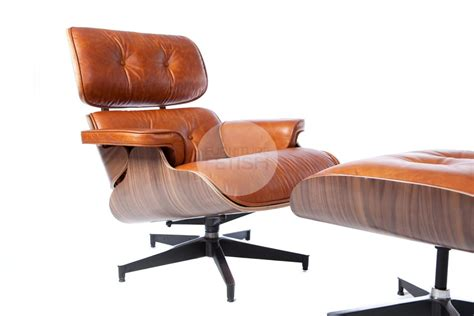 Eames Lounge Chair Ottoman Replica by Replica Eames Lounge Chair Vintage Brown Walnut