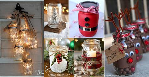 easy christmas mason jars ideas