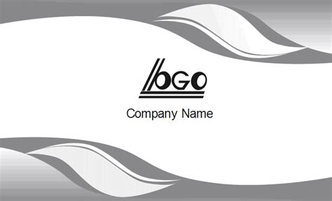 curved card template gray curve business card template