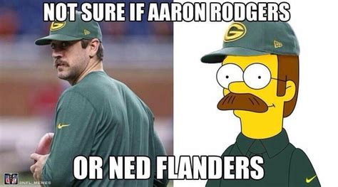 Funny Packer Memes - aaron rodgers mustache memes