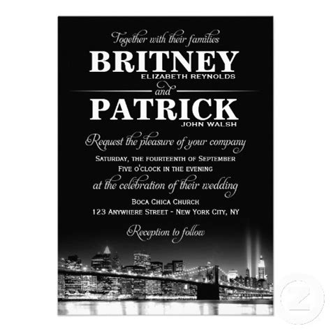 Nyc Themed Wedding Invitations by Invitations
