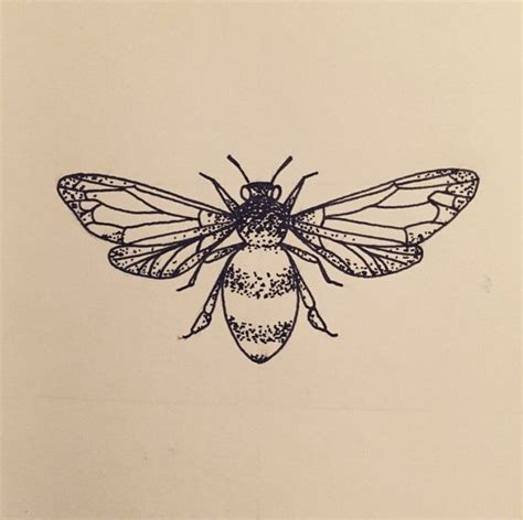 bee art draw drawing insect animal dot dotwork black
