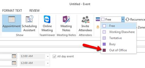 make outlook calendar event how to create outlook out of office calendar event block