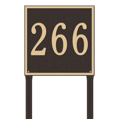gibraltar mailboxes reflective address number plaque
