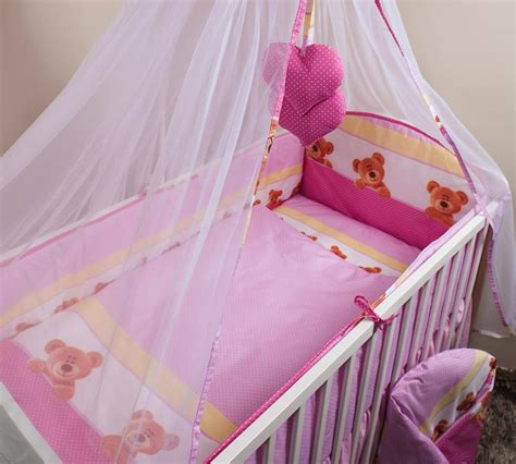 3 nursery cot baby bedding set with all