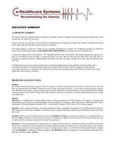 e healthcare systems executive summary sept 2010