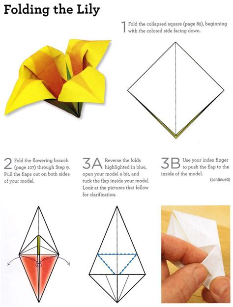 How To Make Paper Lilies Step By Step - craftside how to fold an origami from origami 101
